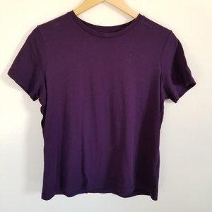LAND'S END So Soft Purple Cotton T Shirt